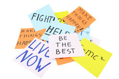Be the Best. Best the Best write on board with background other motivational quotes Stock Photo