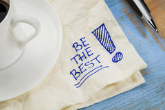 Be the best on a napkin Stock Images