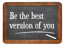 Be the best version of you on blackboard Royalty Free Stock Photos