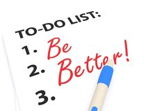Be better to do list Royalty Free Stock Photo