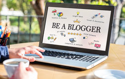 Be A blogger Concept On Computer Screen Royalty Free Stock Photo