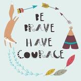 Be brave card Stock Photos