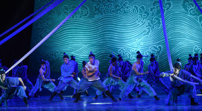 """Be brave in a dangerous situation-Dance drama """"The Dream of Maritime Silk Road"""". Dance drama """"The Dream of Maritime Silk Road"""" centers on the plot of two Stock Photography"""