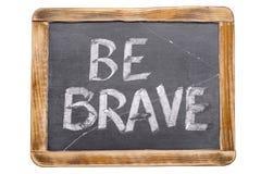 Be brave framed Stock Images