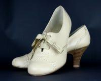 beż buty wysokich dam rzemienni buty Fotografia Stock