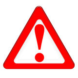 Be Careful. The meaning of symbol is to be carefully Royalty Free Stock Image