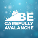 Be carefully avalanche Stock Photos