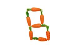 Be Carrot. Letter B made of carrots Stock Photography