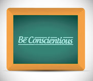 Be conscientious illustration design Royalty Free Stock Images