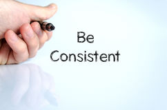 Be consistent text concept royalty free stock photography