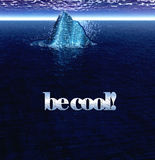 Be Cool Text With Floating Iceberg in Ocean Royalty Free Stock Photos