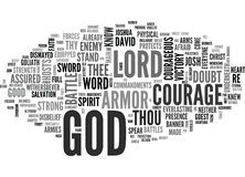Be Courageousword Cloud Stock Images