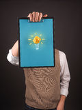 Be creativ, Business man with an idea Royalty Free Stock Photo