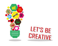 Be creative. In business icon Stock Photo