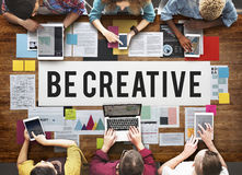 Be Creative Design Imagine Innovate Invention Concept Royalty Free Stock Image