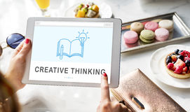 Be Creative E-learning Innovation Education Knowledge Concept Stock Photo