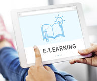 Be Creative E-learning Innovation Education Knowledge Concept.  Royalty Free Stock Images