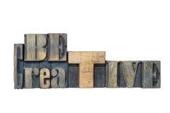Be creative isol Stock Photo