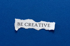 Be creative paper Royalty Free Stock Photos