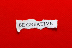 Be creative paper Royalty Free Stock Photography