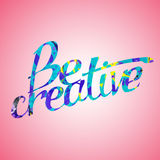 Be creative. Template for poster. Be creative. Bright spot Stock Images
