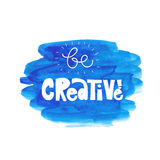 Be creative. Vector illustration Royalty Free Stock Photography