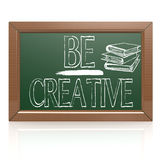 Be Creative written with chalk on blackboard Stock Photo