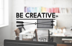 Be Cretive Perspective Inspiration Talent Skill Concept.  Royalty Free Stock Images