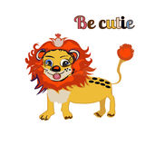 BE CUTIE lion FOR PRINT, kid s book Stock Photography