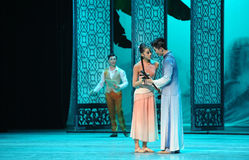 Be detected affair-The second act of dance drama-Shawan events of the past Stock Images