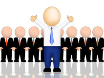 Be Different. Computer generated image - Be Different. a businessman raise his arm infront of other similar businessman group stock illustration