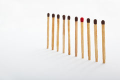 Be different. A different color match in between the same color tip matches group Royalty Free Stock Photo