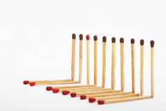 Be different. A different color match in between the same color tip matches group Royalty Free Stock Image