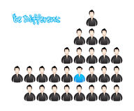 Be different. Vector illustration with special design Stock Photography