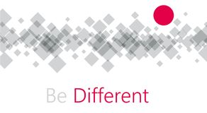 Be different abstract background. Royalty Free Stock Photos