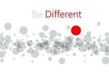 Be different abstract background. Royalty Free Stock Photography
