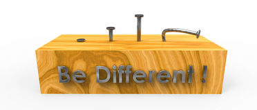 Be different ( bend nail ) Royalty Free Stock Photography