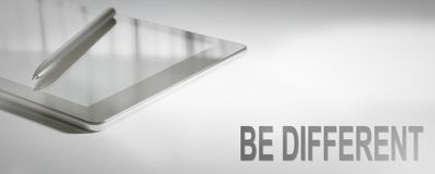 BE DIFFERENT Business Concept Digital Technology. Graphic Concept Stock Image