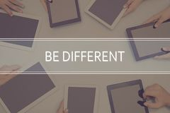 BE DIFFERENT CONCEPT Business Concept. Royalty Free Stock Images