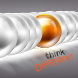Be different concept 3D Stock Photography