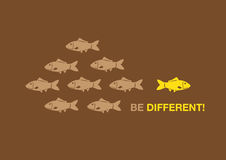 Be Different Creative Concept Vector Illustration Royalty Free Stock Photo