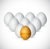 Be different. eggs illustration design Royalty Free Stock Photo
