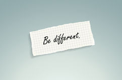 Be different royalty free illustration