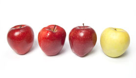Be different - red and yellow apples Royalty Free Stock Image