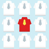 Be different shirt origami Stock Photography