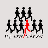 Be different vector illustration