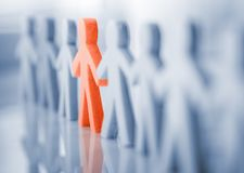 Be different concept. Be different and standing out from the crowd concept Stock Image