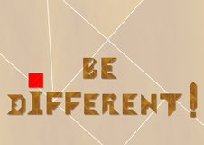 Be different - cdr format Stock Photos
