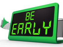 Be Early Clock Message Shows Deadline And On Time Royalty Free Stock Photo