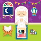 be för flickamuslim royaltyfri illustrationer
